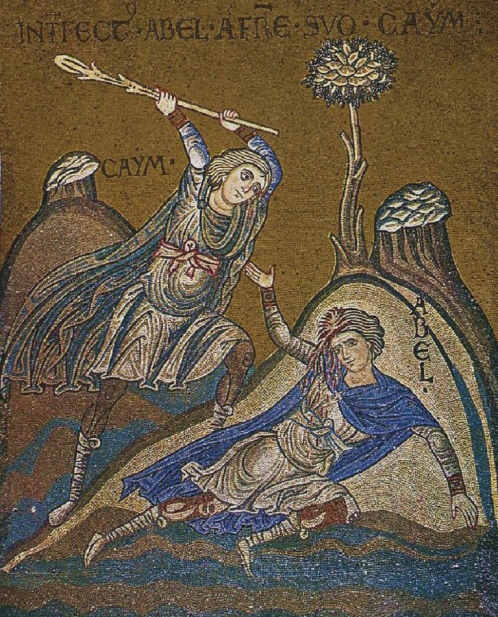 cain-and-abel-mosaic-in-monreale-sicily-12th-century